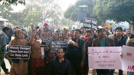 Protest against Doniger's book