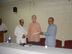 Francis Clooney at Madras University-1