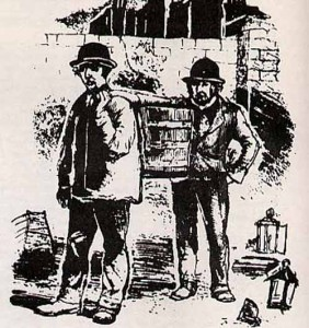 Gong farmers or gongfermours in Europe were tasked with digging out and removing human excrement from privies and cesspits.