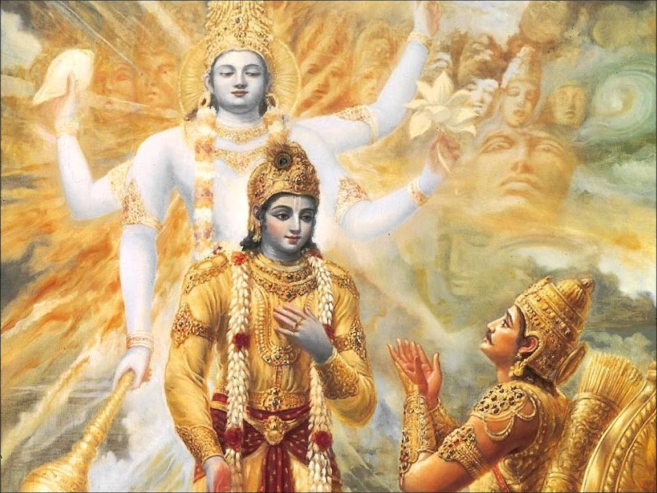 the gita Bhagavad-gita definition, a portion of the mahabharata, having the form of a dialogue between the hero arjuna and his charioteer, the avatar krishna, in which a.