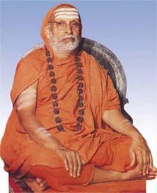 Jagadguru Sri Abhinava Vidyatirtha Mahaswami, the 35th pontiff of Sringeri Peetam.