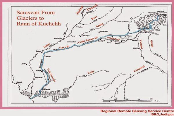River Sarasvati as Eulogised in Rig Veda Landsat Satellite