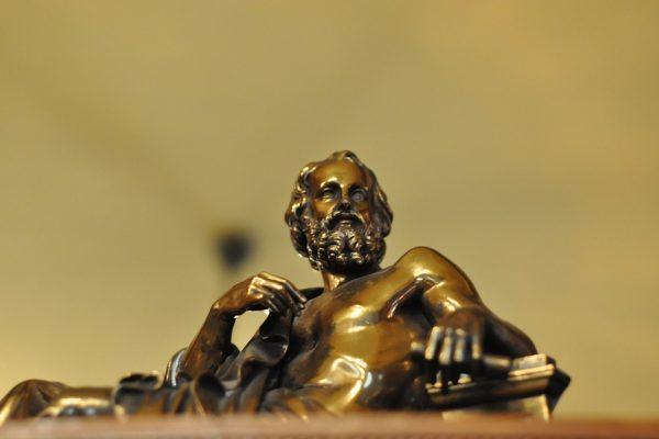 Scholar Bronze Plato Upanishad