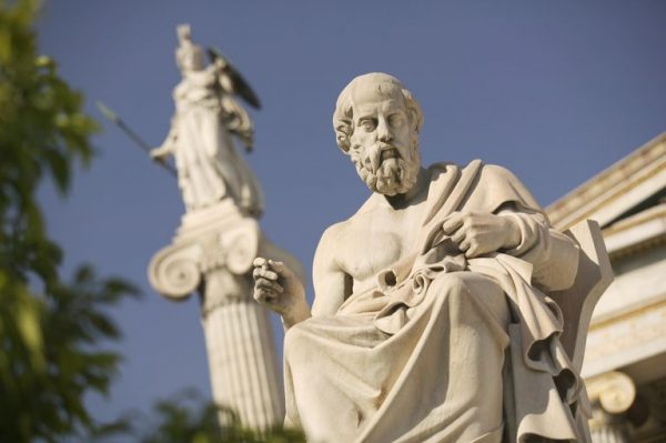 Plato and Early Upanishads Statue Hellenic Academy