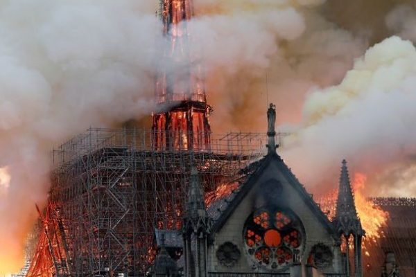 Notre Dame burning fire